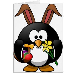 Ostern-Pinguin Grußkarte