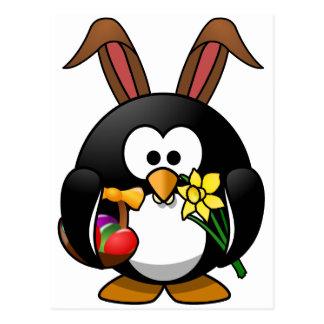 Ostern-Pinguin Postkarte