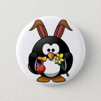 Ostern-Pinguin Runder Button 5,7 Cm