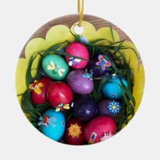 Ostern Rundes Keramik Ornament