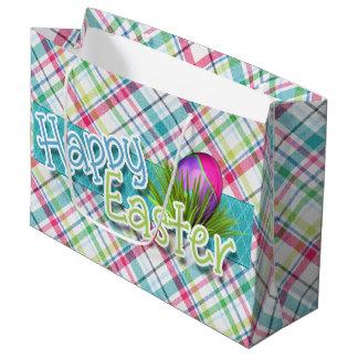 """Ostern - Wort-Kunst """"fröhlicher Ostern"""" auf Große Geschenktüte"""