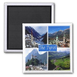 * Österreich - beim Tirol Quadratischer Magnet