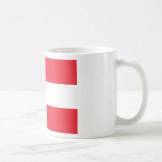Österreich-Flagge Kaffeetasse
