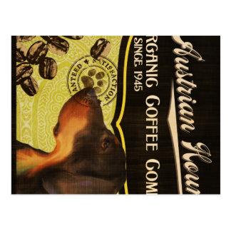 Österreichische Jagdhund-Marke - Organic Coffee Postkarten