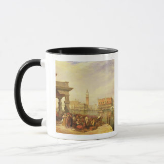 Ostkaufleute am Eingang zur großartigen Dose Tasse