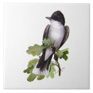 OstKingbird auf Eiche durch Louis Agassiz Fuertes Große Quadratische Fliese