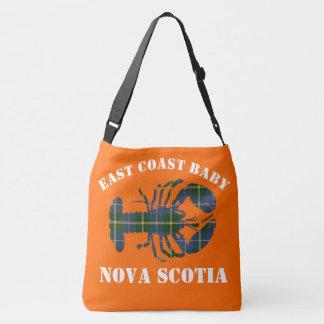 Ostküsten-Baby-Hummer Tartan   Taschenorange Tragetaschen Mit Langen Trägern