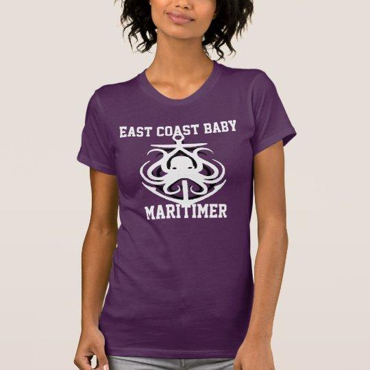 Ostküsten-Baby Maritimer Ankerkrake lila T-Shirt