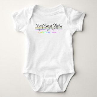 Ostküsten-Baby-Musiknotenpersonal Hemd