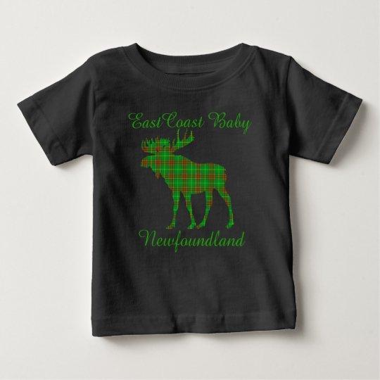 Ostküsten-Baby-Neufundlandtartan Elche Baby T-shirt