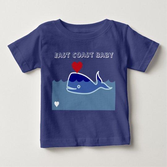 """Ostküsten-Baby-Shirt Wal """"Leuchtturm-Weg """" Baby T-shirt"""