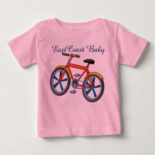 Ostküsten-Babyfahrrad-Fahrrad-Shirt Baby T-shirt