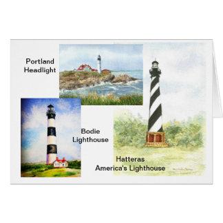 Ostküsten-Leuchtturm-Aquarell durch Mary Dunham Karte