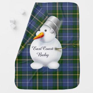 Ostküsten-WeihnachtsSchneemann NeuschottlandTartan Babydecken