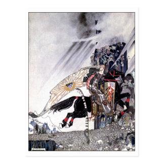 Östlich des Sun westlich der Vintagen Postkarte