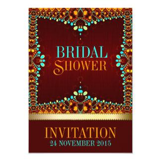 Östliche böhmische Brautparty-Einladungen 12,7 X 17,8 Cm Einladungskarte