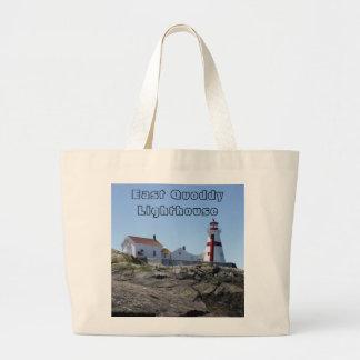 OstQuoddy Leuchtturm Jumbo Stoffbeutel