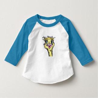 Ostrich-Kleinkind-Vogel-T - Shirt