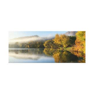"Ostsee-Reflexion 24.5x10 1,5"" Leinwanddruck"