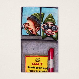 Ostseiten-Galerie, Berliner Mauer, Wachen, Schutz Visitenkarte