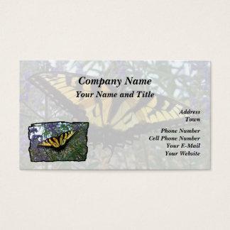Osttiger-Frack-Schmetterling Visitenkarte