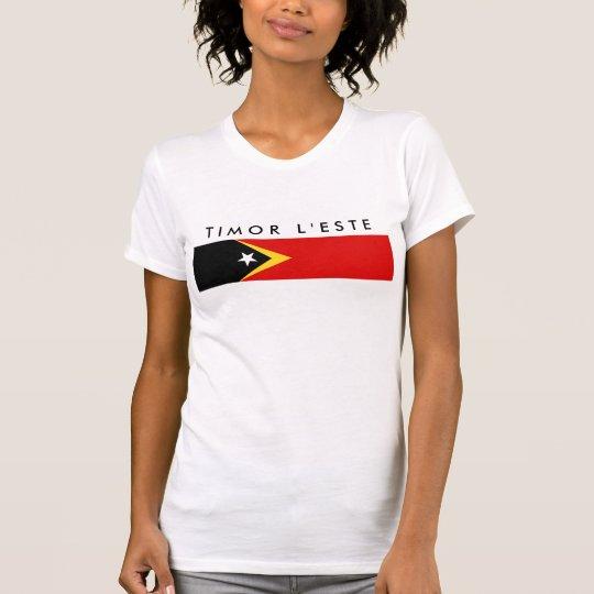 Osttimor-Landesflaggenationssymbol lang T-Shirt