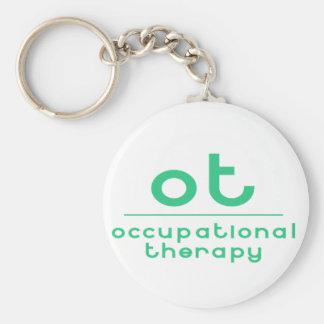 OT Beschäftigungstherapie Standard Runder Schlüsselanhänger