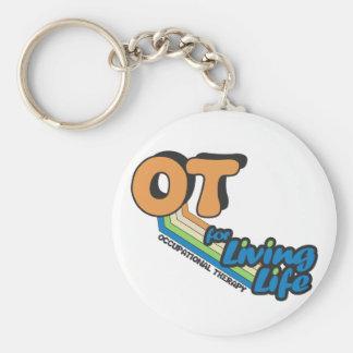 OT für lebendes Leben Standard Runder Schlüsselanhänger