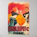 Otard-Dupuy et affiche promotionnelle de cognac de