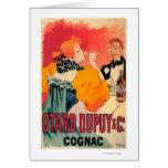 Otard-Dupuy et affiche promotionnelle de cognac de Carte De Vœux