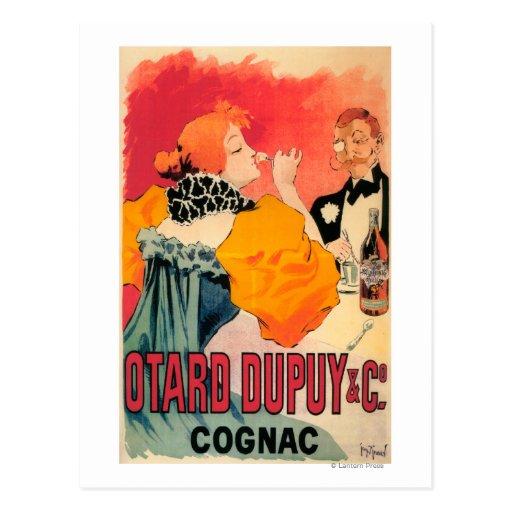 Otard-Dupuy et affiche promotionnelle de cognac de Carte Postale