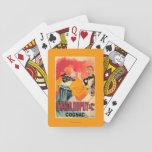 Otard-Dupuy et affiche promotionnelle de cognac de Cartes À Jouer Poker