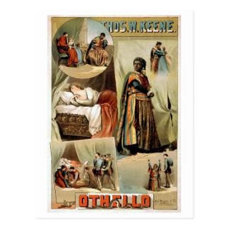 Othello Vintages Theater-Plakat Postkarte
