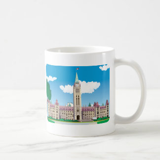 Ottawa-Parlaments-Gebäude Kaffeetasse