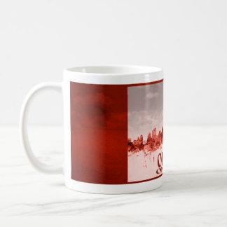 Ottawa-Skyline mit rotem Schmutz Kaffeetasse
