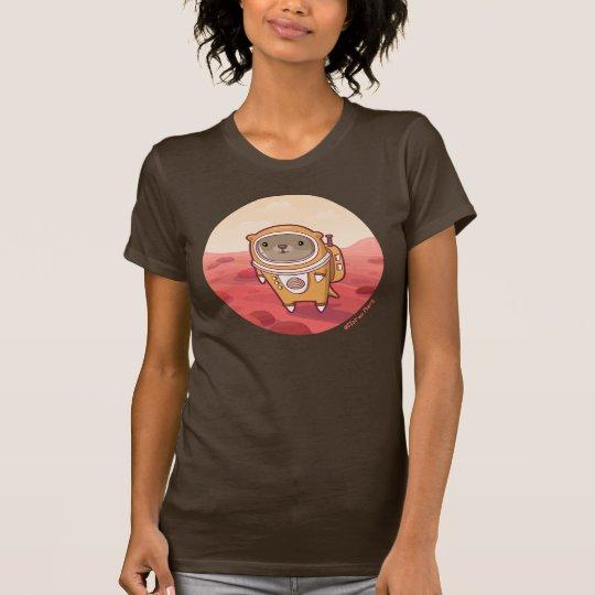 """Otter auf Mars """"hallo dort"""" T - Shirt in Brown"""