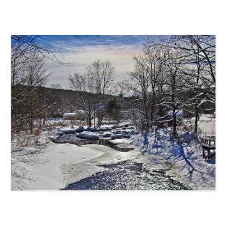 Otter-Bach-Winter-Szene Postkarte