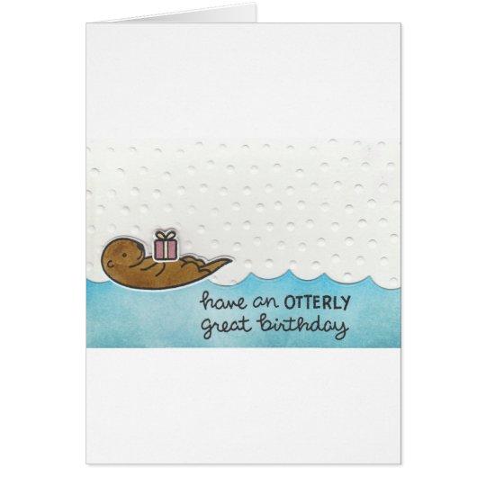 Otter-Geburtstag Grußkarte