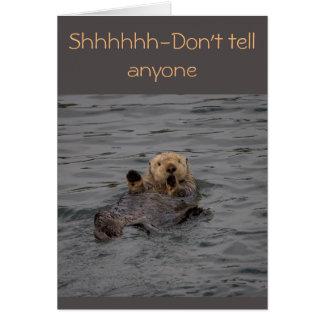 Otter-Geburtstags-Wünsche Grußkarte