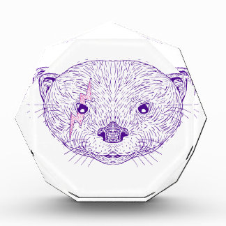 Otter-Hauptblitz-Bolzen-Zeichnen Auszeichnung