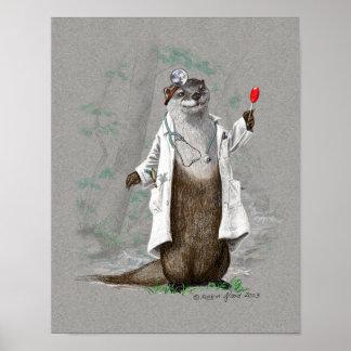 Otter-Medizin - Druck oder Plakat