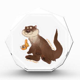 Otter n Goldfisch Acryl Auszeichnung