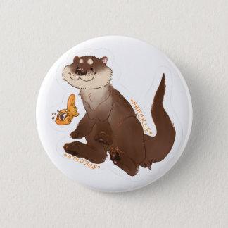 Otter n Goldfisch Runder Button 5,7 Cm