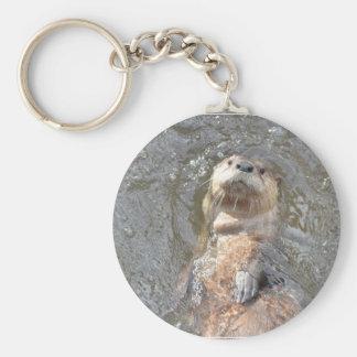 Otter-Rückseiten-Floss Schlüsselanhänger
