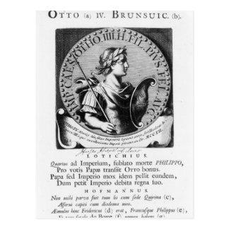 Otto IV von Brunswick Postkarte