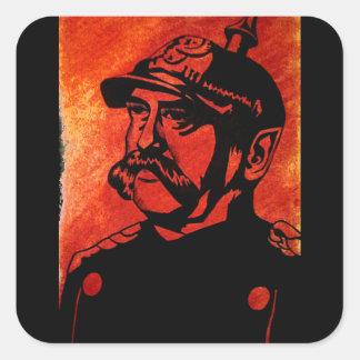 Otto von Bismarck-Aufkleber Quadratischer Aufkleber