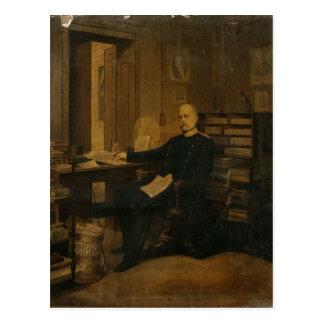 Otto von Bismarck in seiner Studie Postkarte