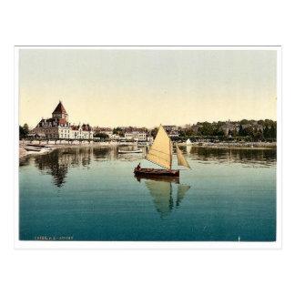 Ouchy, vom See, Geneva See, die Schweiz cla Postkarte