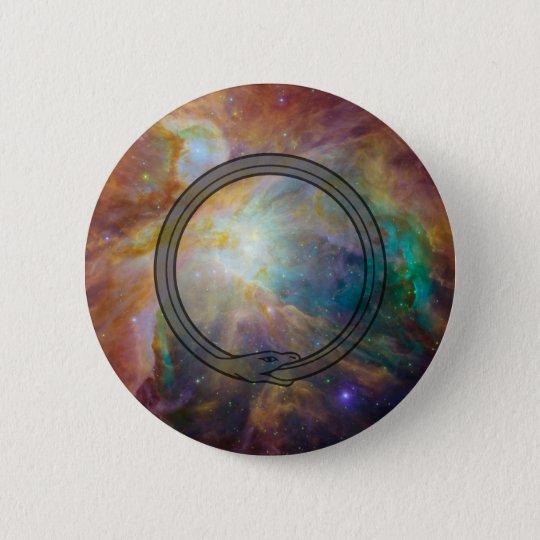 Ouroboros Runder Button 5,1 Cm
