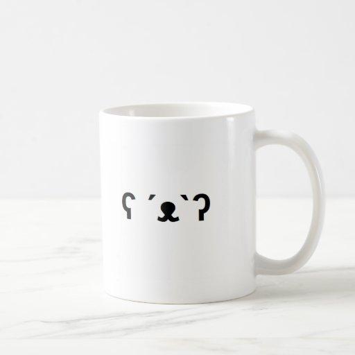Ours blanc tasses à café